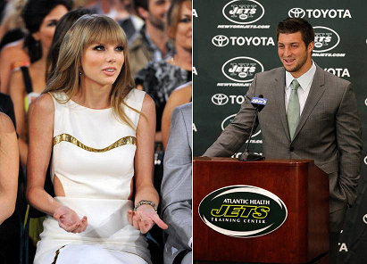Taylor Swift Reaction on Taylor Swift S  Uncomfortable  Reaction To Tim Tebow Joke