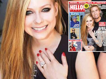 Avril Lavigne Shows Off Ginormous Engagement Ring Avril Lavigne And Chad Kroeger Engagement Ring