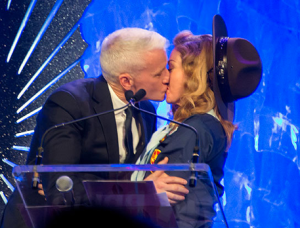 Madonna And Anderson Cooper Share A Big Smooch At The GLAAD Awards