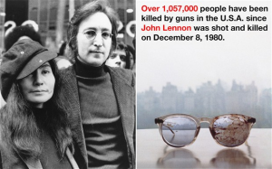 Yoko Ono Tweets Photo Of John Lennon's Bloody Glasses To Support Gun Control