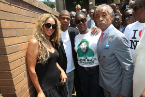 Jay-Z And Beyonce Join Trayvon Martin Rally In NYC