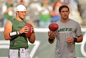 Tim Tebow AND Mark Sanchez Behind Named #2 QBs Behind Greg McElroy