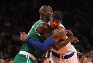 Carmelo Anthony Gets Into Post-Game Arguments With Kevin Garnett