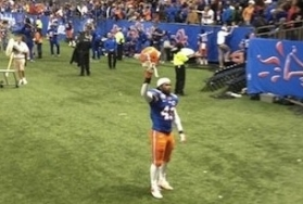 Lone Florida Player Stays To Sing Alma Mater Song After Embarrassing Loss