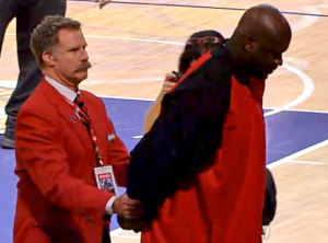 Will Ferrell Ejects Shaq From Lakers Game