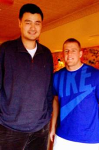 Yao Ming Makes J.J. Watt Look Like A Little Kid