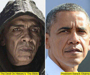 The Devil In 'The Bible' Mini-Series Was Made To Resemble Obama?