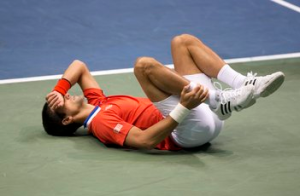Novak Djokovic Brought To Tears By Ankle Injury In Davis Cup