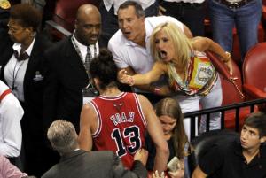 Angry Miami Heat Fan Flips Joakim Noah The Bird