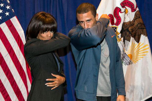 Michelle Obama Tries 'Kaepernicking' With Colin Kaepernick
