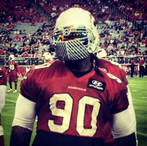 Darnell Dockett Unveils New 'Ridiculous' Facemask