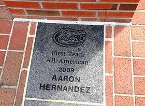 Florida Removes Aaron Hernandez From Gator Walk