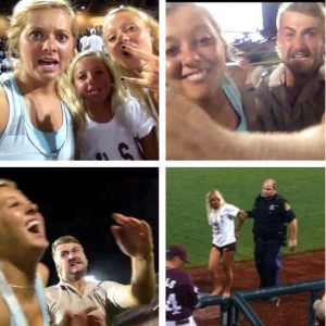 Girls Storm The Field At College World Series To Capture 'Ultimate Selfie'